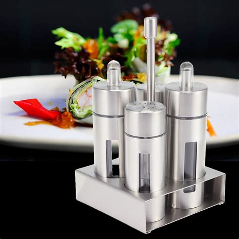 Salt And Pepper Spice Rack by 4pcs Sauce Spice Seasoning Bottle Stainless Steel Spice