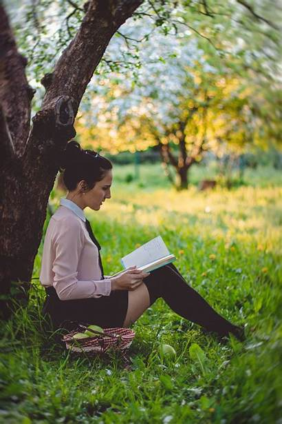 Reading Person Nature Tree Woman Outdoors Under