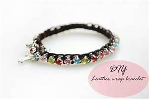 Comment Faire Un Bracelet En Perle : comment faire un bracelet cuir tress avec perles strass brillantes perles fantaisies ~ Melissatoandfro.com Idées de Décoration