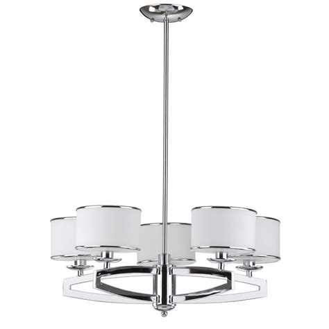 white drum pendant light safavieh lenora drum 5 light chrome pendant chandelier