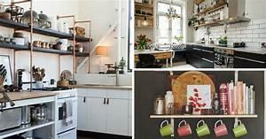 Etagere De Rangement Cuisine : tag res ouvertes dans la cuisine 53 id es photos ~ Melissatoandfro.com Idées de Décoration