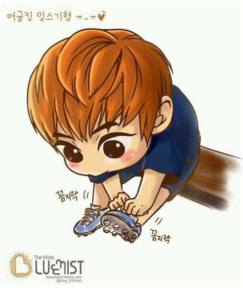 anime exo lucu 17 best images about fanart xiumin on logos