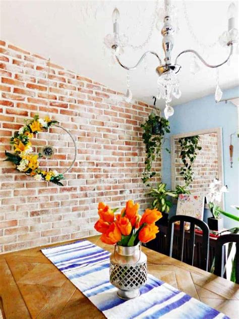 brick accent wall stunning diy results  simple