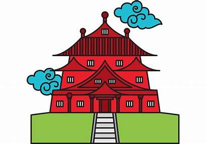 Temple Chinese Vector Clipart China Temples Svg