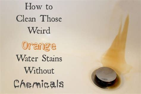 how to make tub water clear how to clean orange water stains the creek line house