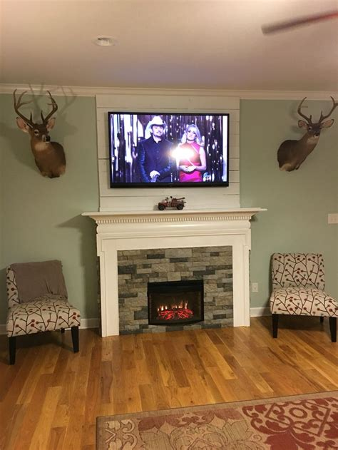 diy fireplace surround  electric insert