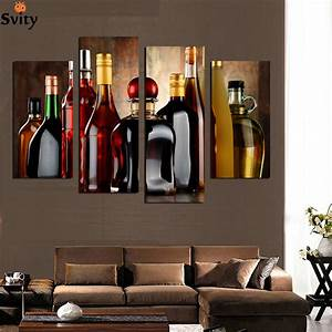 Online buy wholesale oil painting wine bottle from china for Best brand of paint for kitchen cabinets with metal ship wall art
