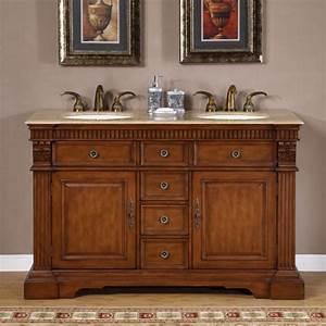 55, Inch, Furniture, Style, Double, Sink, Bathroom, Vanity, Uvsr018155
