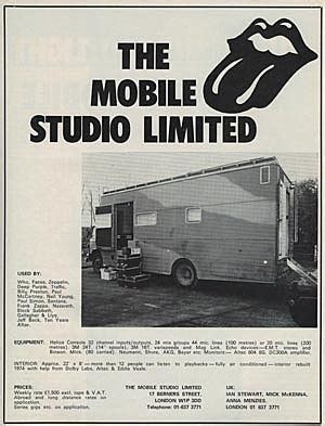 stones mobili a look back at the rolling stones mobile studio a
