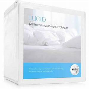 lucid zippered mattress encasement bed bug and waterproof With bed bug mattress encasement reviews