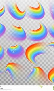 Set Of Realistic Colorful Rainbow. EPS 10 Vector Stock ...