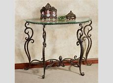 Anacapri Metal and Glass Console Table