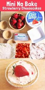 Mini Strawberry No Bake Cheesecake - GUBlife