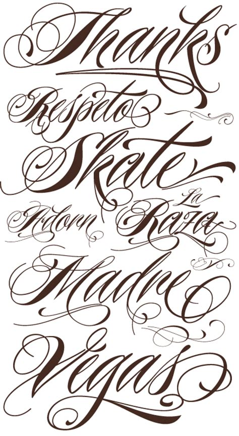 lettering tattoos fonts