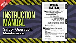 Instruction Manual  Weed Eater 2