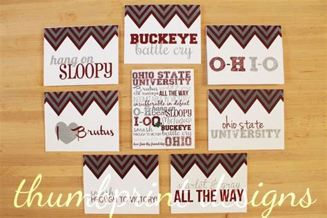 M2 Note Ohio State Buckeyes ohio state college note cards or thank you
