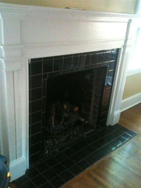 fireplace  tile traditional living room charlotte