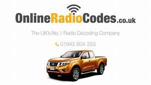Nissan Navara Radio Code Stereo Pin Reset Codes