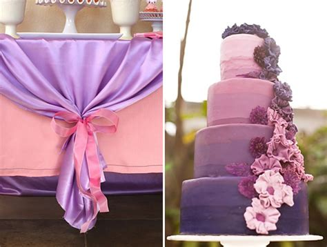 pink  purple weddings
