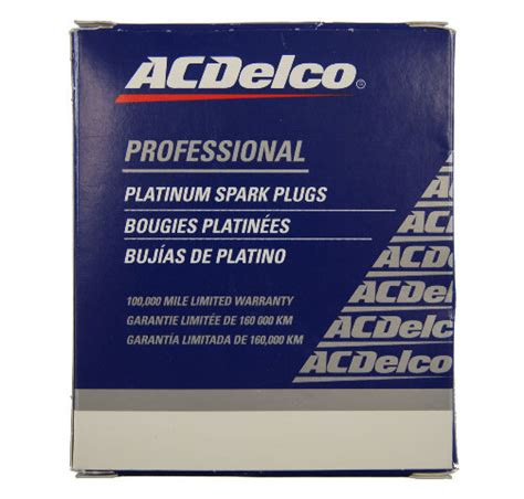 acdelco platinum spark plugs pack    gm oem
