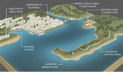 Coastal Sea Level Coast Change 2100 Areas