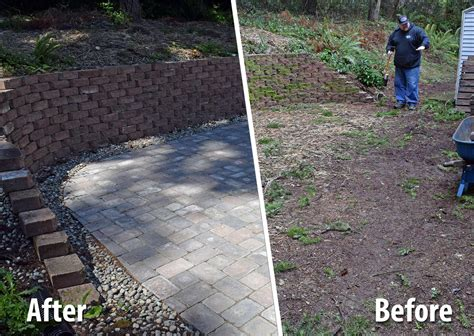 west olympia paver patio extension ajb landscaping fence