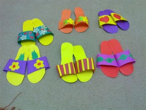 art activities for preschool slippers craft idea for crafts and worksheets for 421