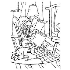 Top 25 Free Printable Berenstain Bears Coloring Pages Online | 230x230