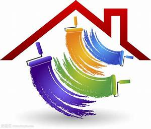 油漆房子Logo素材矢量图片(图片ID:622530) -行业标志-标志图标-矢量素材 淘图网 taopic com