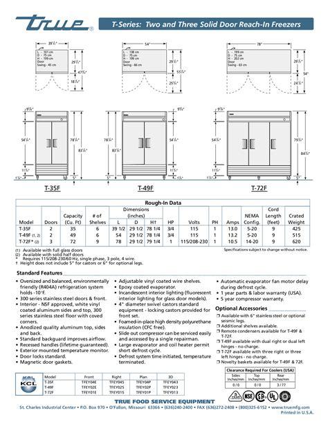 true freezer t 49f wiring diagram electrical website