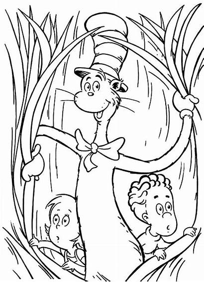 Hat Cat Coloring Pages Printable