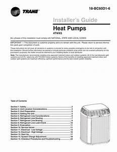 Trane Xl15i Heat Pump Installation Manual