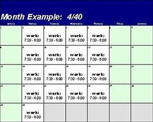 using the manage schedule plan create a new schedule plan With compressed work week proposal template