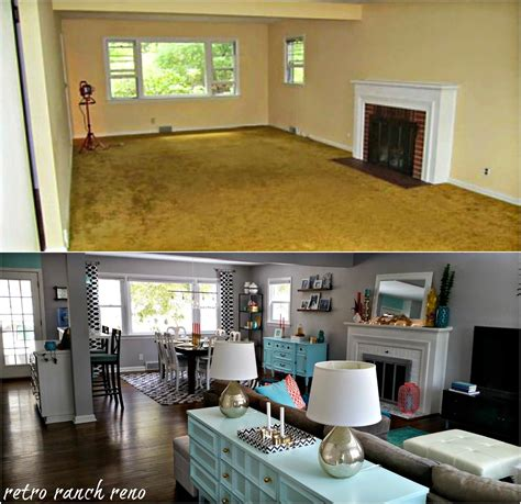 The Living Room Kitchen Renovation Schedule by Retro Ranch Reno Our Rancher Before After The Living
