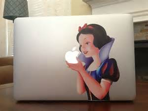 Snow white macbook sticker 695 shipped more options for Kitchen cabinets lowes with disney laptop stickers