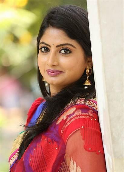Mounika Actress Tv Serial Telugu Saree Mounica