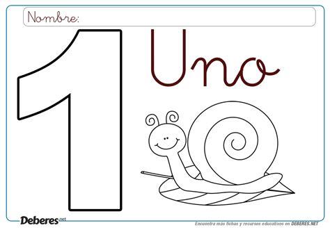 Ficha del numero 1 para colorear (e imprimir) Numeros