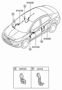 2016 Hyundai Accent Door Wiring