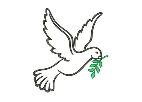 Sale Peace Dove Embroidery Designs Bird Embroidery Designs