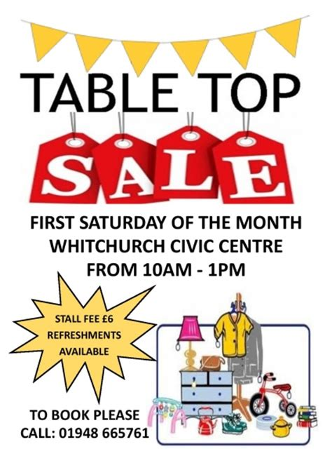 Tabletop Sale by Table Top Sales Whitchurch Town Council