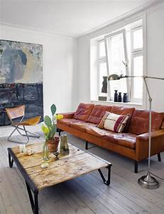 Un canape vintage pour votre salon moderne archzinefr for Tapis moderne avec canape cuir retro