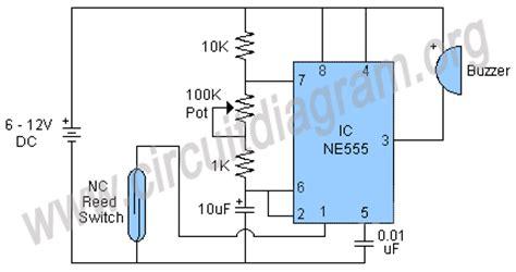 Door Security Alarm Circuit Diagram