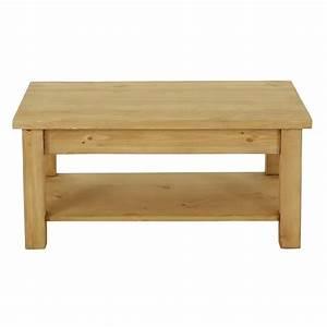 Table En Pin Massif : table basse rustique en pin 100 cm grenier alpin ~ Teatrodelosmanantiales.com Idées de Décoration