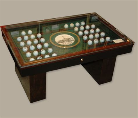 Masters Coffee Table Autographed Golf Ball Collection