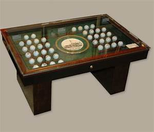 masters coffee table autographed golf ball collection With golf coffee table
