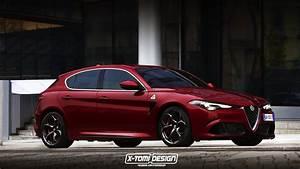 Alfa Romeo Giuletta : 2019 alfa romeo giulietta successor rendered with giulia quadrifoglio s face autoevolution ~ Medecine-chirurgie-esthetiques.com Avis de Voitures