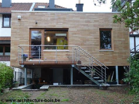 http www architecture bois be une extension bois recouverte de robinier ajoure posee sur