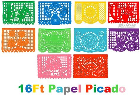 papel picado ft plastic traditional authentic cultural