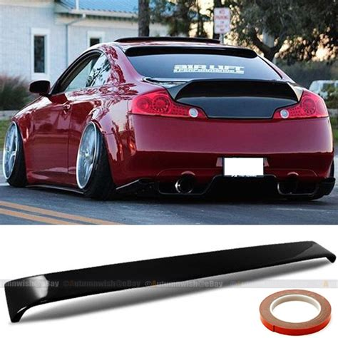 Fit 03-07 Infiniti G35 2DR Painted Glossy Black Rear Roof ...