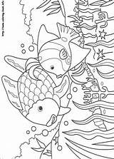 Fish Coloring Pages Rainbow sketch template